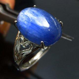 天然石 カイヤナイト SV925 フリーサイズ 14x10mm リング kya_ring_14x10_2