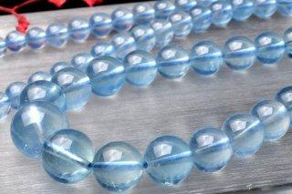 天然石 アクアマリン 5〜11mm ブレスレット aqua-05011
