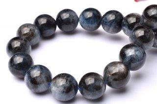 天然石 ブラックスターアクアマリン 9.5mm ブレスレット aqua-09.5002b