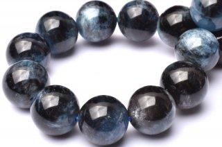 天然石 ブラックスターアクアマリン 12.5mm ブレスレット aqua-12.5001b