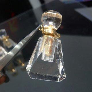 天然水晶 クリスタル 香水瓶 ボトル トライアングル cry_top_puf_05