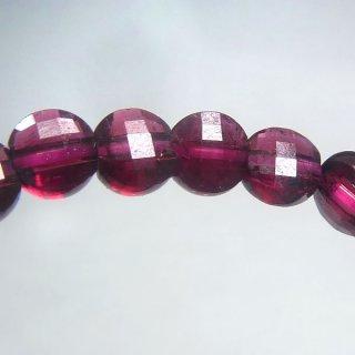天然石 宝石質ガーネット コインカット 3.5mm ブレスレット gar03.5001