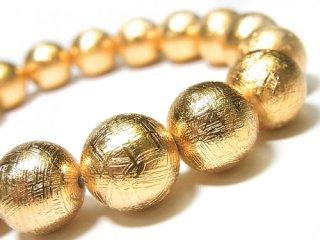天然石 ギベオン ゴールド 12mm ブレスレット giv-12001g