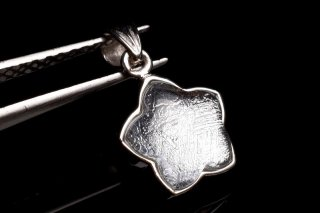 天然石 ギベオン シルバー 12.5mm ブレスレット giv-star_12.5_si