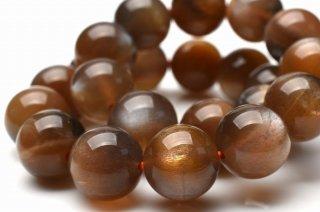 天然石 高品質ゴールデンムーンストーン 8.5mm ブレスレット moo-08.5001g