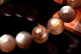 天然石 高品質ゴールデンムーンストーン 9mm ブレスレット moo-09001g