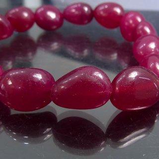 天然石 ルビー タンブル 11-13.5mm ブレスレット ruby13001t