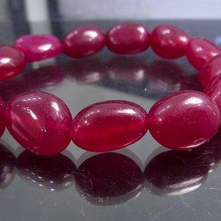 天然石 ルビー タンブル 13-15mm ブレスレット ruby14001t