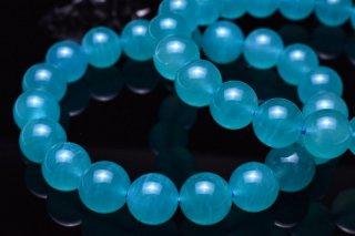 天然石 アイスアマゾナイト 9mm ブレスレット ama-09001