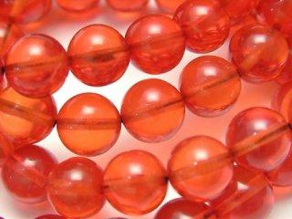 天然石 レッドアンバー 琥珀 8.5mm ブレスレット amb-08.5001r
