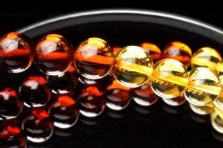 天然石 グラデカラー アンバー 琥珀 8mm ブレスレット amb-08001