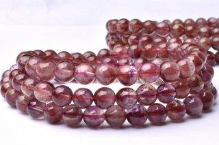 天然石 オーラライト23 3連 6mm ブレスレット aur23-06001