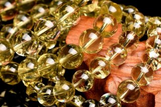 天然石 シトリン 11~12mm ブレスレット cit12001