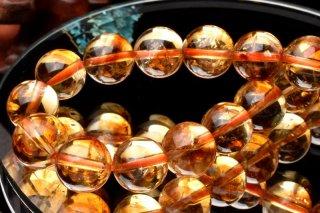 天然石 ファントムシトリン 9.5mm ブレスレット cit-09.5002