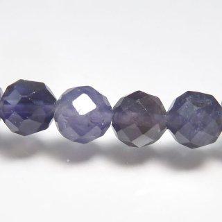 天然石 アイオライト 多面カット 5mm ブレスレット io05002