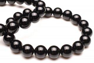 天然石 モリオン 黒水晶 10mm ブレスレット mor10001