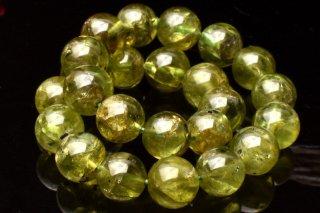 天然石 ペリドット 7.5mm ブレスレット peri-07.5001