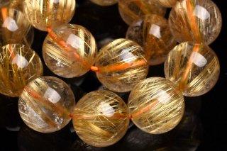 天然石 タイチンルチルクォーツ 11.5mm ブレスレット rut-11.5001