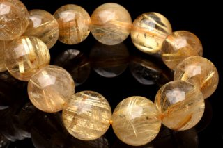 天然石 タイチンルチルクォーツ 12mm ブレスレット rut-12001