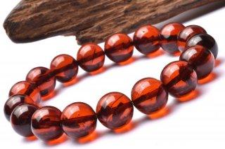 天然石 レッドアンバー 11mm ブレスレット amb-11002
