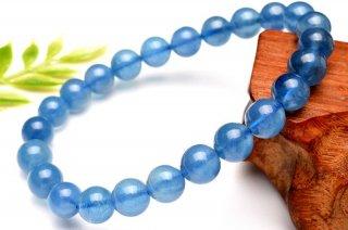 天然石 ブルーアクアマリン 7.5mm ブレスレット aqu-07.5001