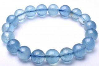 天然石 ブルーアクアマリン 10mm ブレスレット aqu-10001