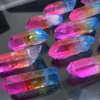 【1粒売り】水晶原石 ポイント レインボー� M cry_pt_M_ra02