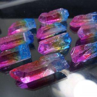 【1粒売り】水晶原石 ポイント レインボー� わけあり cry_pt_w_ra02