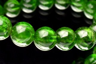 天然石 クロムダイオプサイド 6.5mm ブレスレット dio-06.5002