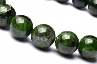 天然石 クロムダイオプサイド 11mm ブレスレット dio-11004