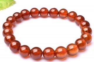 天然石 オレンジガーネット 8.5mm ブレスレット gar-08.5002