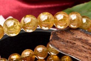 天然石 グリーンガーネット 9.5mm ブレスレット gar-09.5002g