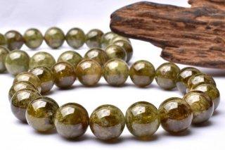 天然石 グリーンガーネット 9.5mm ブレスレット gar-09.5003g