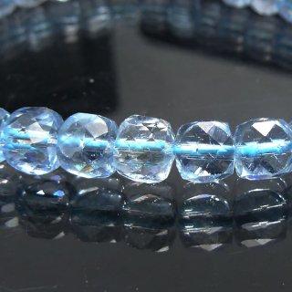 天然石 カイヤナイト キューブカット ブレスレット kya06003