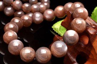 天然石 サンムーンストーン 11mm ブレスレット moo-11001