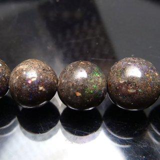 天然石 ブラックオパール 7.5mm ブレスレット opa07.5001b