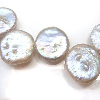 【1粒売り】淡水パール コイン ホワイト 10mm pea_co_10_01