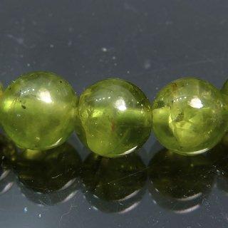 天然石 ペリドット 7.5mm ブレスレット per07.5002