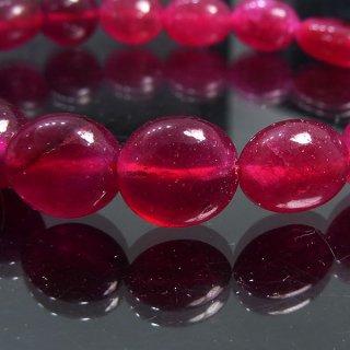 天然石 ルビー タンブル 8.5-12mm ブレスレット ruby10004t