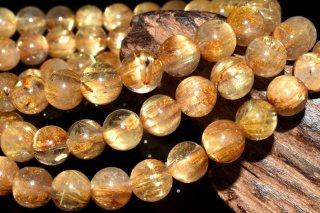天然石 タイチンルチルクォーツ 3連 6.5mm ブレスレット rut-06.5001-3