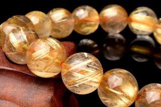 天然石 タイチンルチルクォーツ 11mm ブレスレット rut-11001