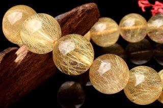 天然石 ゴールドルチルクォーツ 13mm ブレスレット rut-13002