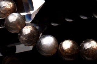 天然石 ブラックサンムーンストーン 9mm ブレスレット sun-09002