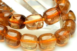 天然石 シャンパントパーズ タンブル 6.5x7.5mm ブレスレット top-6.5x7.5001