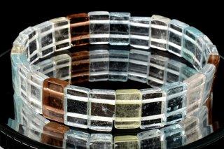 天然石 マルチカラートパーズ バングル 7x11mm ブレスレット top-07x11002