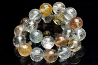 天然石 マルチカラートパーズ 8mm ブレスレット top-08001