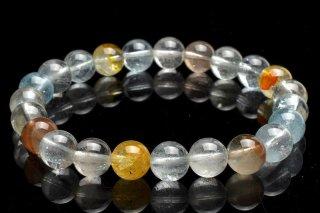 天然石 マルチカラートパーズ 8mm ブレスレット top-08002