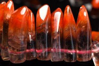天然石 氷柱 オーラライト23 3-4x15-17mm ブレスレット aur23-15-17001