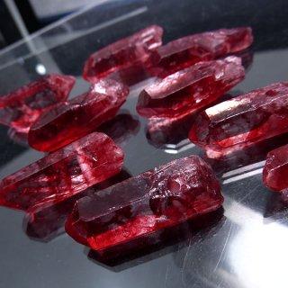 【1粒売り】水晶原石 ポイント レッド 深紅 M cry_pt_M_red
