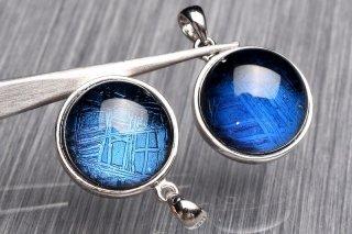 天然石 ギベオン ブルー 11.5mm ペンダントトップ giv-top_11.5_b